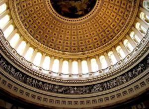 Inside the dome of the U.S. Capitol Building, Washington, D.C.