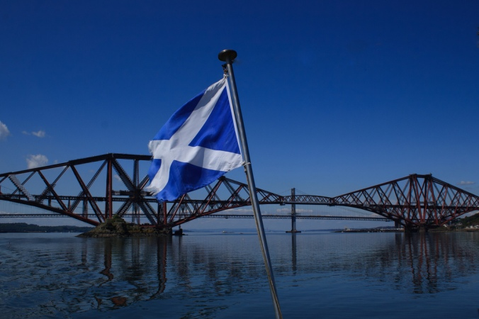Saltire and Forth Bridge