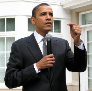 Statuesque Obama