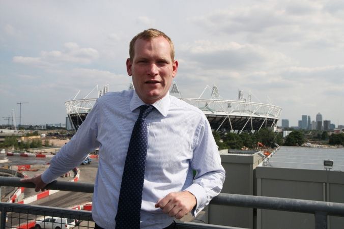 FCO Minister Jeremy Browne visits Olympics site